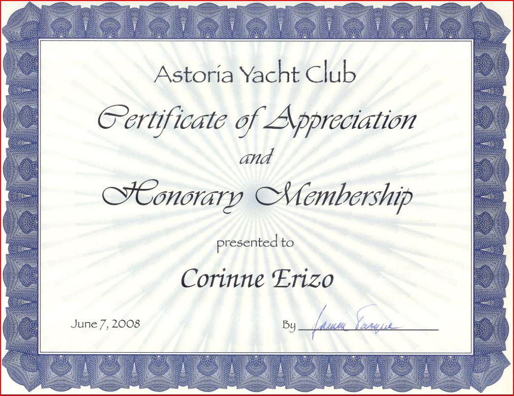 Dean 441 aloha125 catamaran cass construit en 2009 for Honorary member certificate template