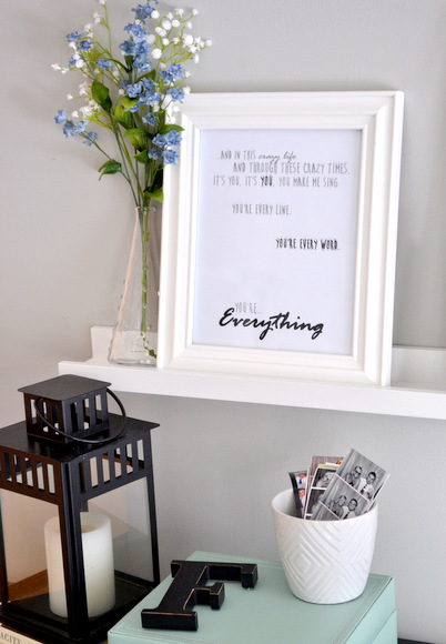 framed lyrics