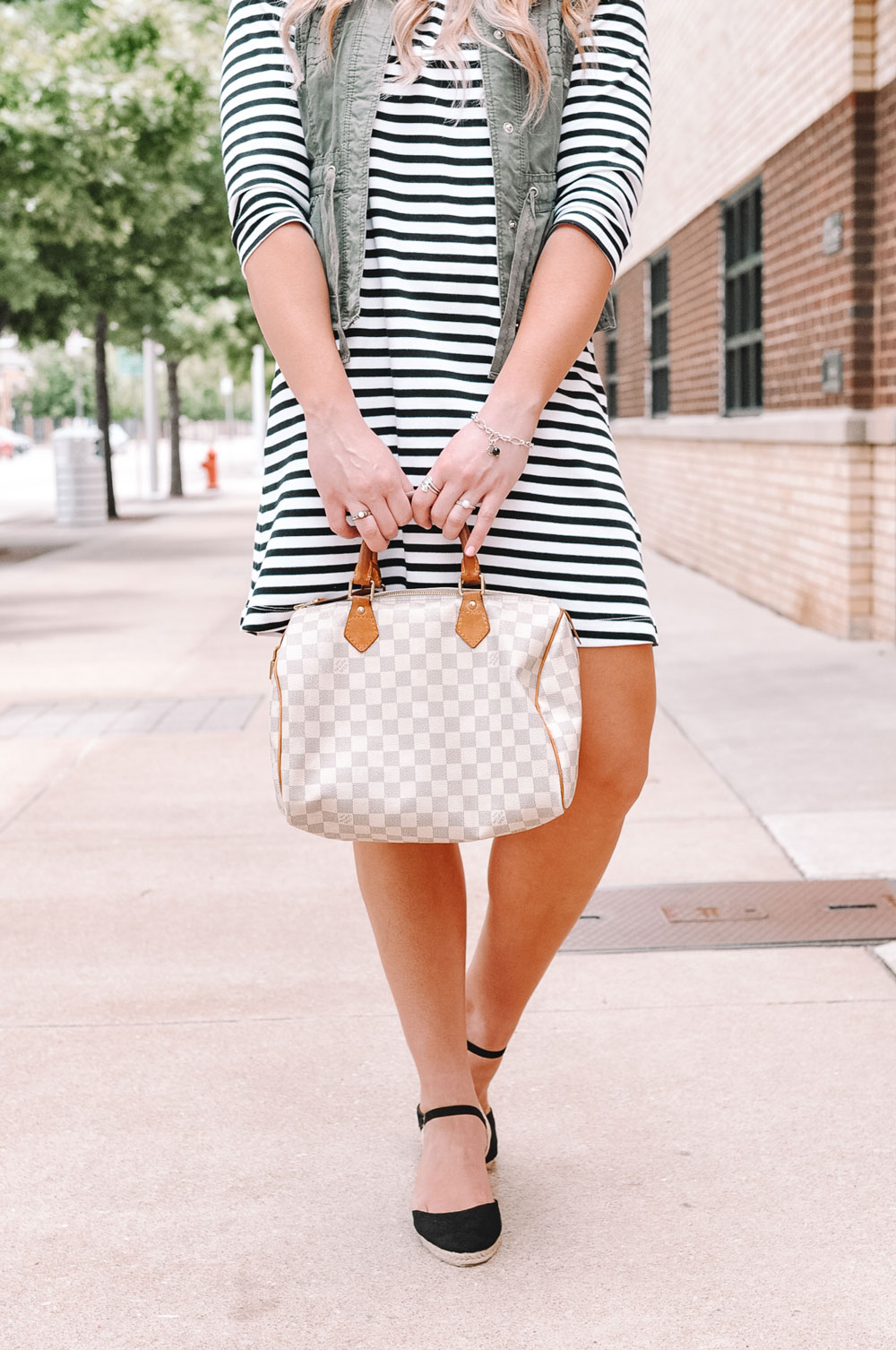 OKC blogger Amanda Martin styles James Avery charm bracelets in a casual way
