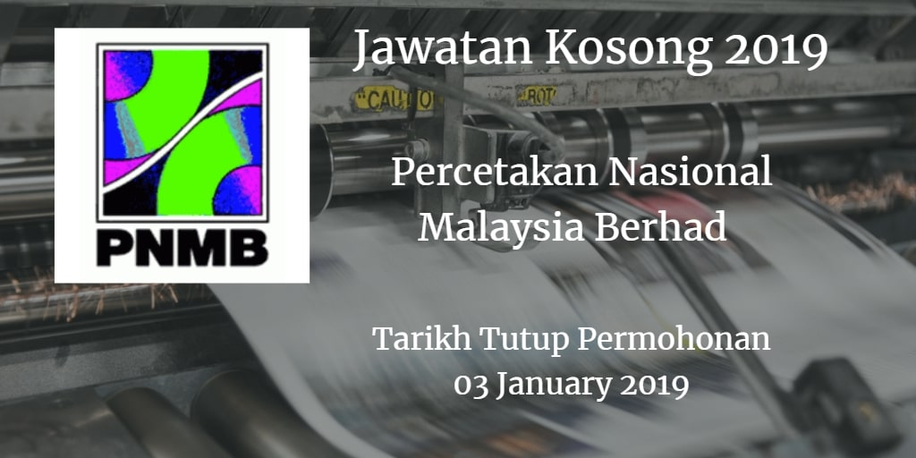 Jawatan Kosong PNMB 03 January 2019