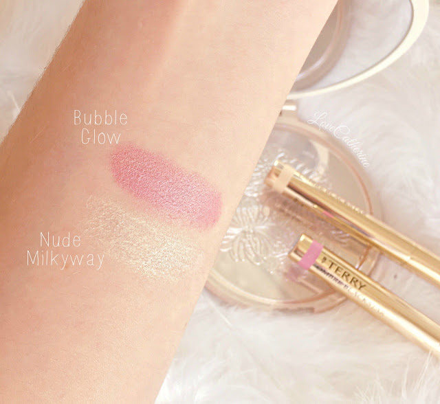 By Terry Ombre Blackstars Spring 2016 Swatches | Nude Milky Way & Bubble Glow
