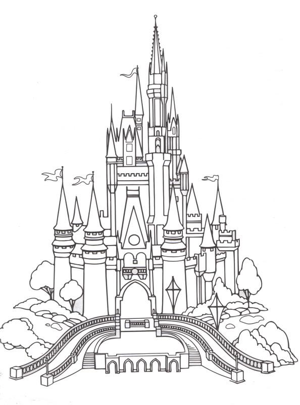 R r workshop 25 free disney printables for Cinderella castle coloring pages
