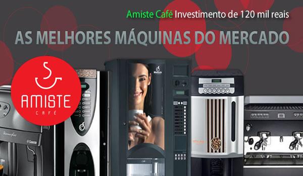 Franquia de Locação de máquina de café Amiste café