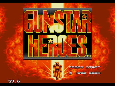 【MD】火槍英雄(Gunstar Heroes)原版+無敵Hack版,出色的ACT動作遊戲!