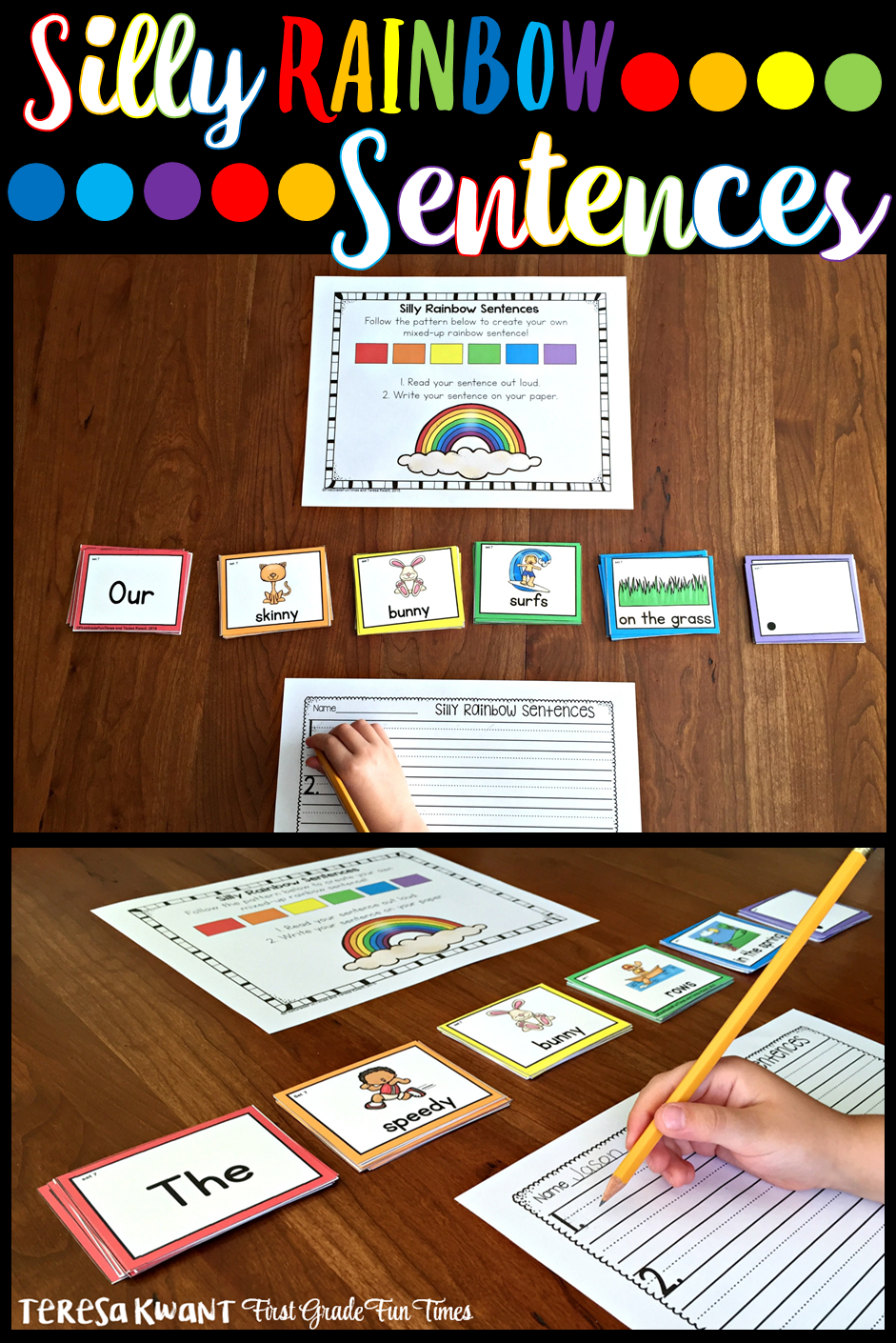 how to use silly rainbow sentences in your classroom the tpt blog
