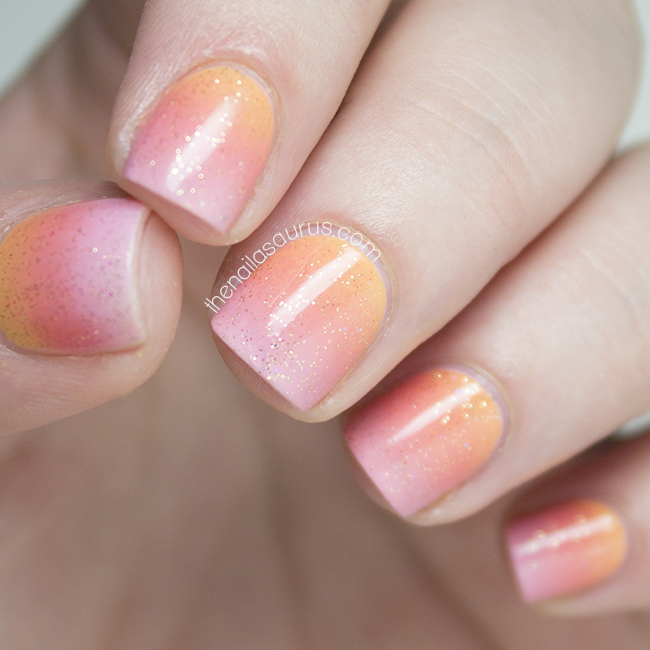 Gradient Nail Art: Snippet: Sunset Gradient - The Nailasaurus