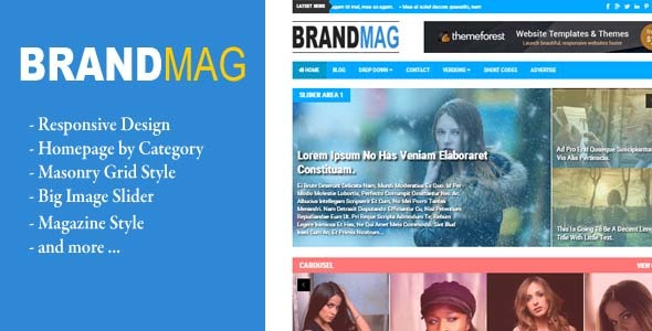 Brand Mag - Responsive Blogger Magazine Template