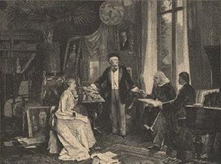 Beckmann, W.: Richard und Cosima Wagner mit Liszt und Hans v. Wolzogen in ihrem Heim 'Wahnfried'