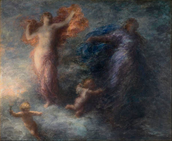 Dawn and Night Ignace Henri Jean Théodore Fantin-Latour, French, Date? Musée d'Orsay, Paris, France