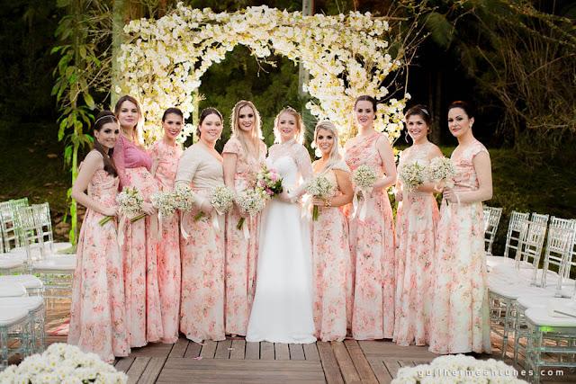 casamento real, decoração de cerimônia, madrinhas, bridesmaid, rústico chic, rústico chic, portal de flores, casamento eloiza e renato