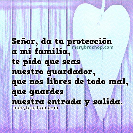 cuidado proteccion Dios por la familia