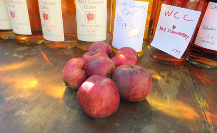 Tremblett's Bitter apples in front of bottles of cider
