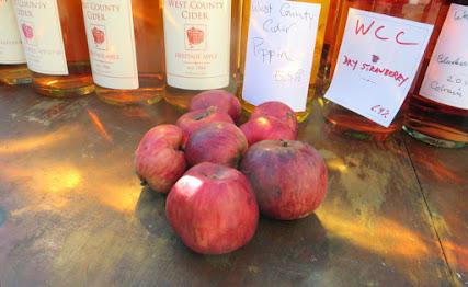 Tremblett's Bitter apples in front of bottles of cider