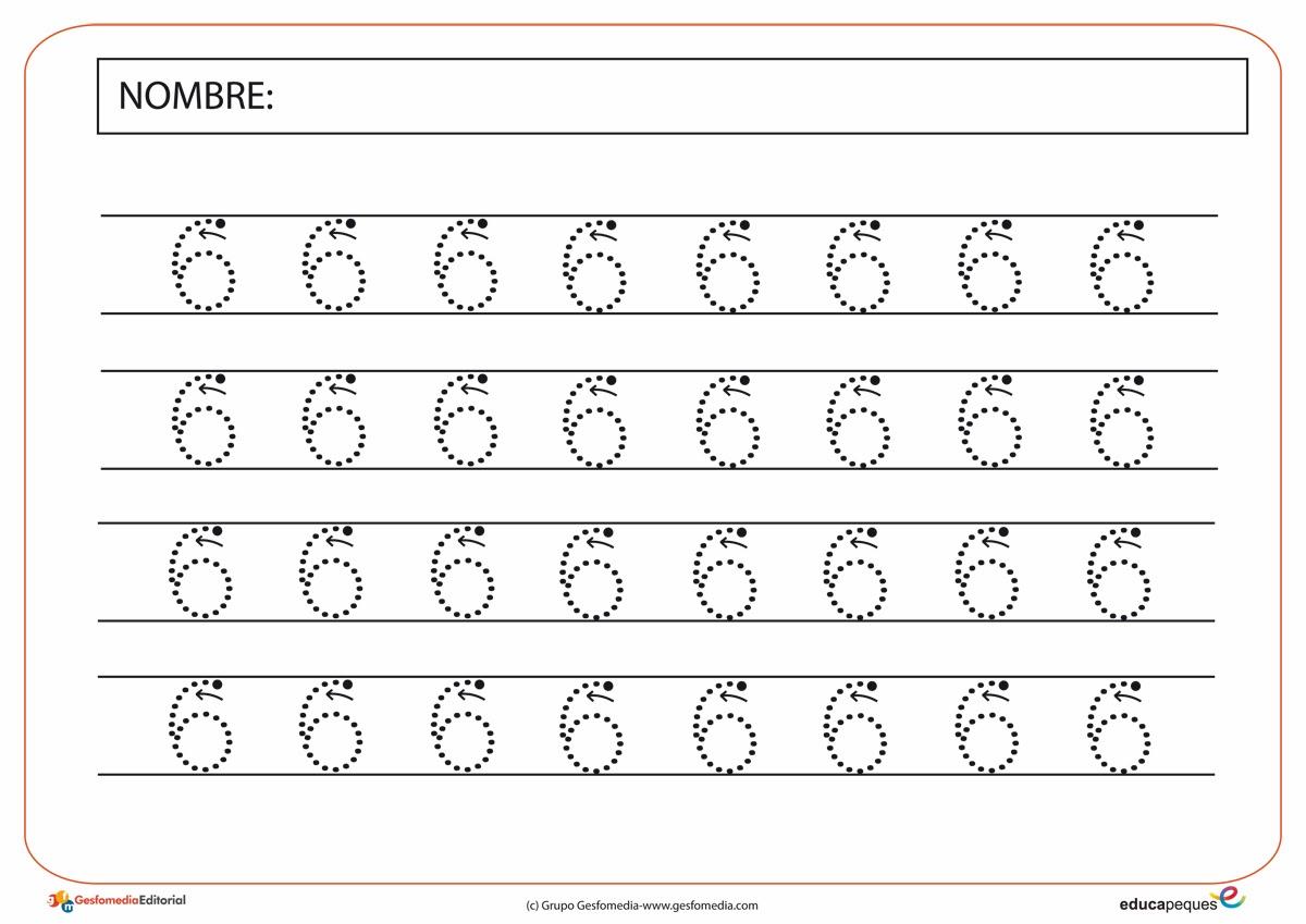 Numero 10 Con Imagenes: Trabajando En Educación Infantil: 10 Fichas Del Número 6
