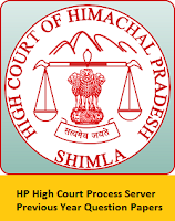 HP High Court Process Server Previous Year Question Papers