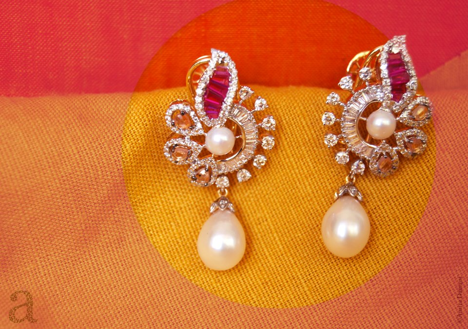 Exclusive Designs Of Earrings By Amita Damani Who Is Making Miracles With Rubies Emeralds Shires Pearls And Diamonds