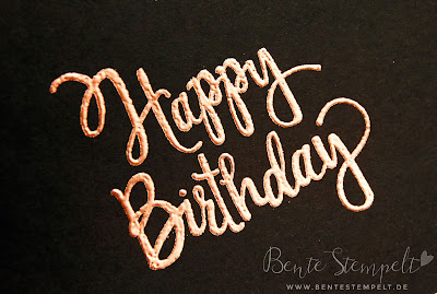 Stampin' Up! Happy Birthday Kupfer Embossing Pulver copper powder