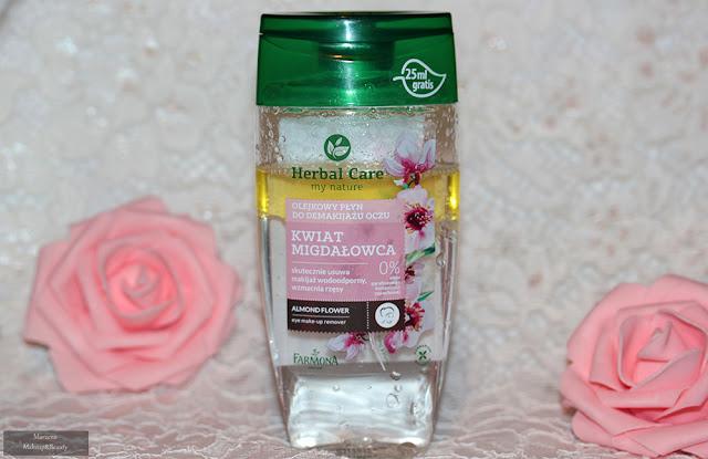 Herbal Care - olejkowy płyn do demakijażu oczu kwiat migdałowca