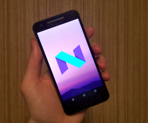 Android N Mobile Screen with New Logo