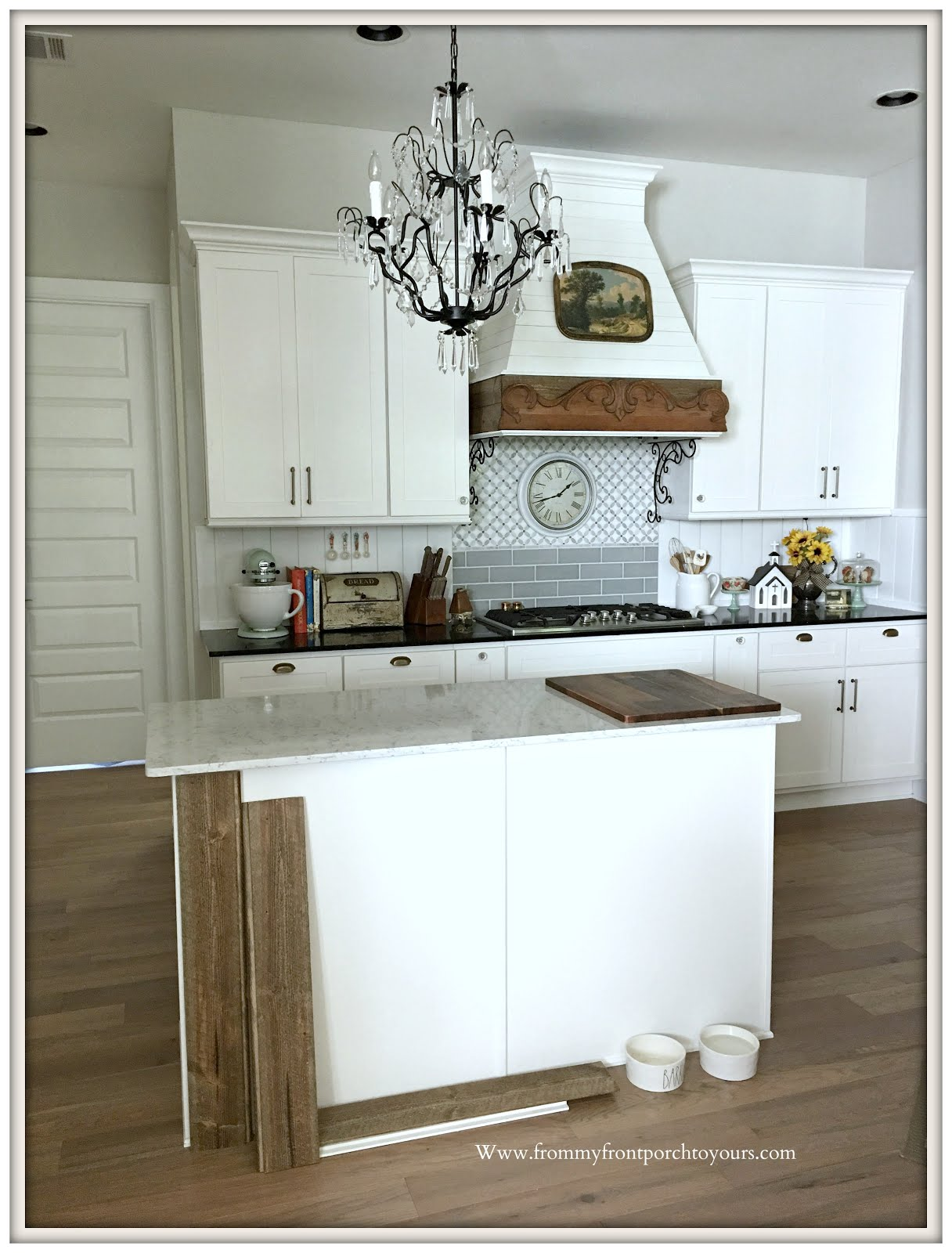 French Country Kitchen Builder Grade Farmhouse Kitchen Island Makeover From  My Front Porch
