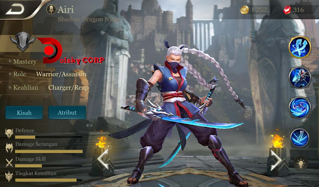 Arena of Valor : Hero Airi ( Shadow Dragon Ninja ) Burst Damage Builds Set up Gear