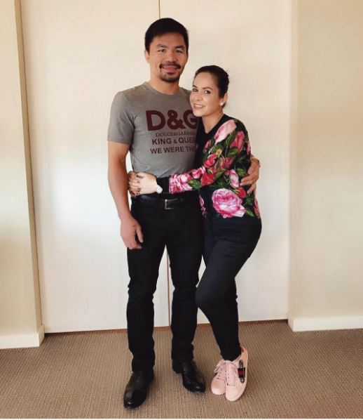 Manny Pacquiao Was Seen Wearing An Expensive And Controversial D&G T-Shirt! Is He Following The Trend?