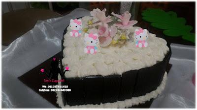 Kue tart ulang tahun hiasan hello kitty