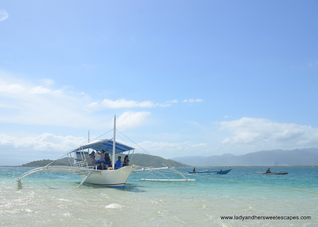 boat good for 20 people at Manjuyod Sandbar