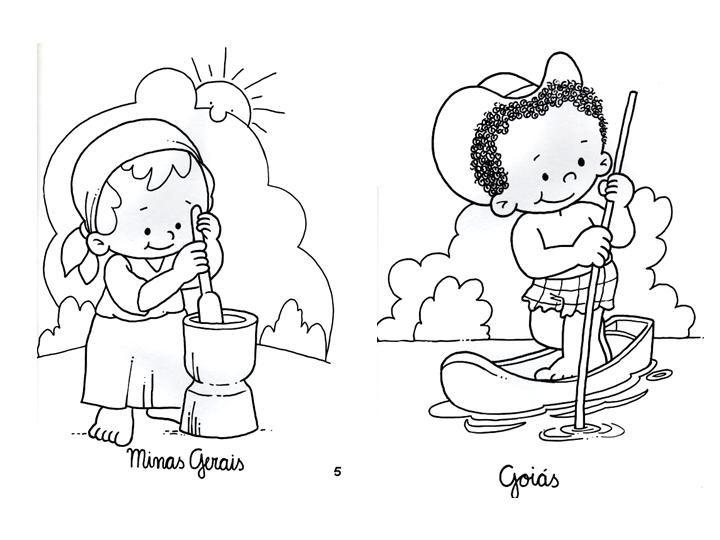 Dibujo Del Traje Tipico De La Region Andina Sin Pintar