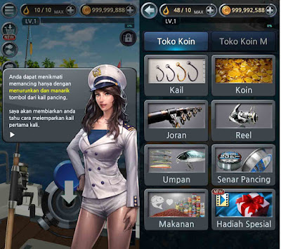 cara cheat fishing hook unlimited money