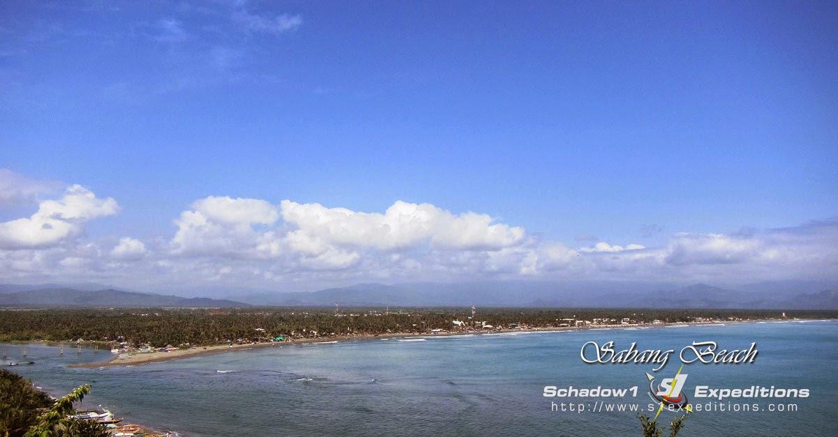 Stretch of Sabang Beach, Baler - Schadow1 Expeditions