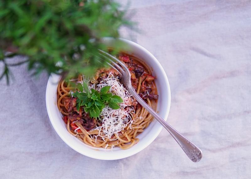 Chorizo-makkara, punaviini_ruoanlaitossa