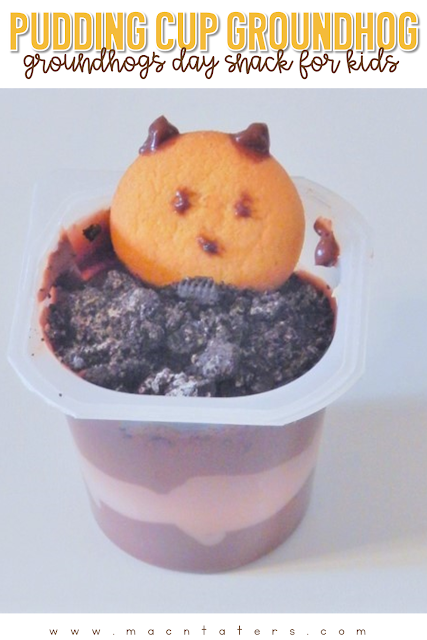 Groundhog's Day wouldn't be complete without some fun themed snacks. This adorable Groundhog's Day Pudding Snack is a simple fun with food for kids. It uses simple ingredients that your kids will love.