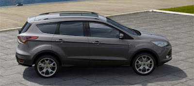 All New 2017 Ford Kuga facelift side look