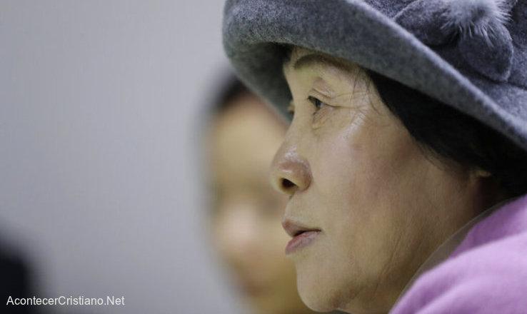 Mujer cristiana desertora de Corea del Norte