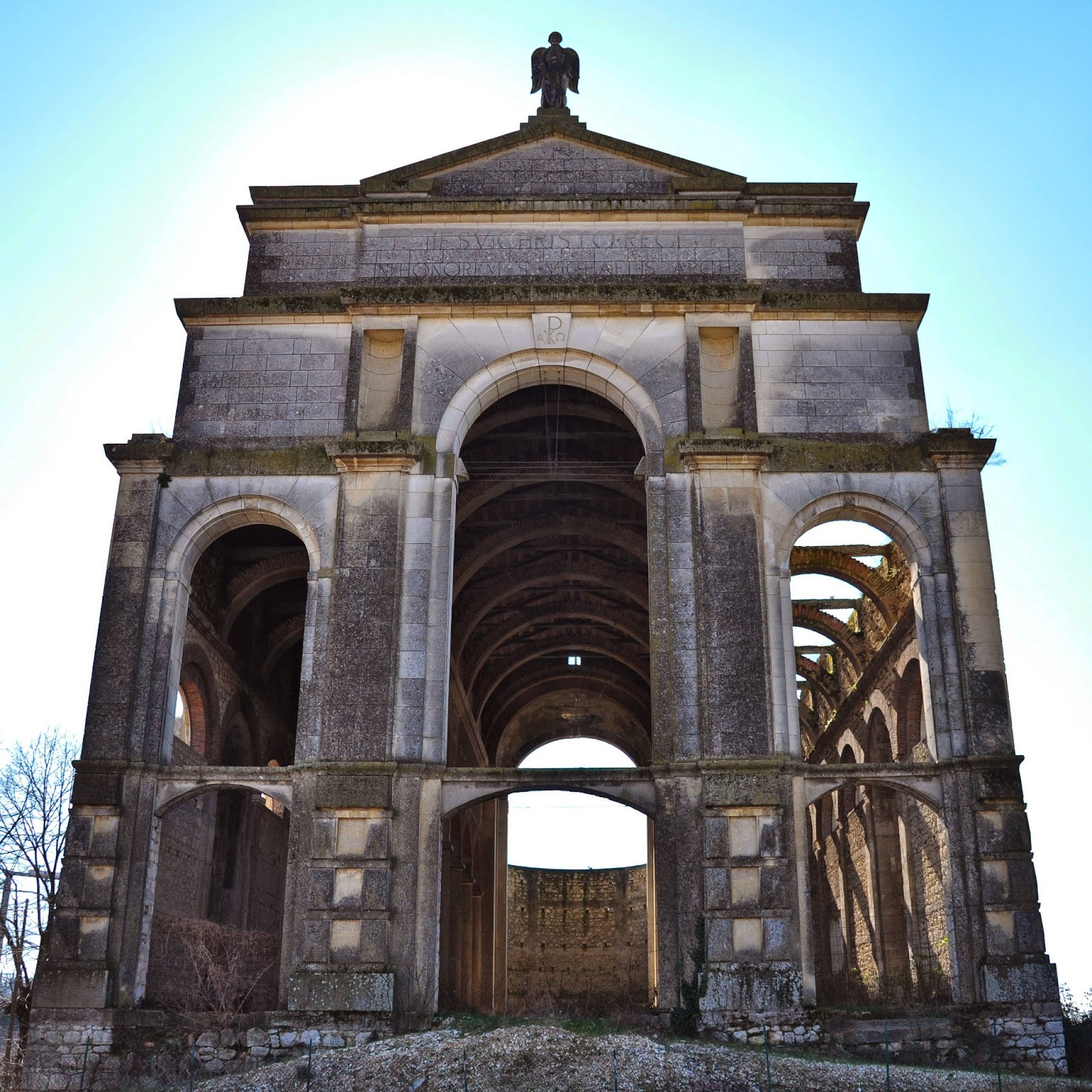 The incompleted duomo of Brendola, Colli Berici, Veneto