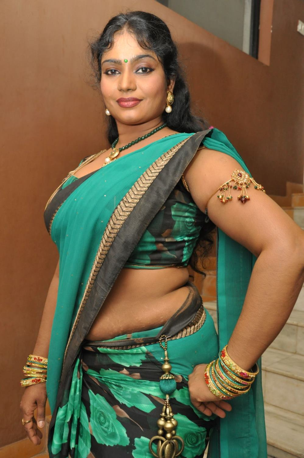Supporting Actress Jayavani Hot Stills In Saree Hq -2315