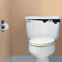 decorar el water del baño para halloween
