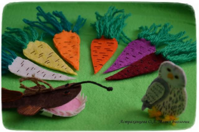 Пальчиковый театр, сорта моркови, сова, удильщик