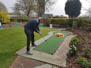 Crazy Golf course at Fletcher's Garden Centre in Eccleshall, Stafford