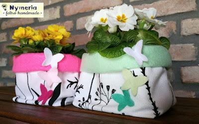 cucito creativo sacchetti per vasi