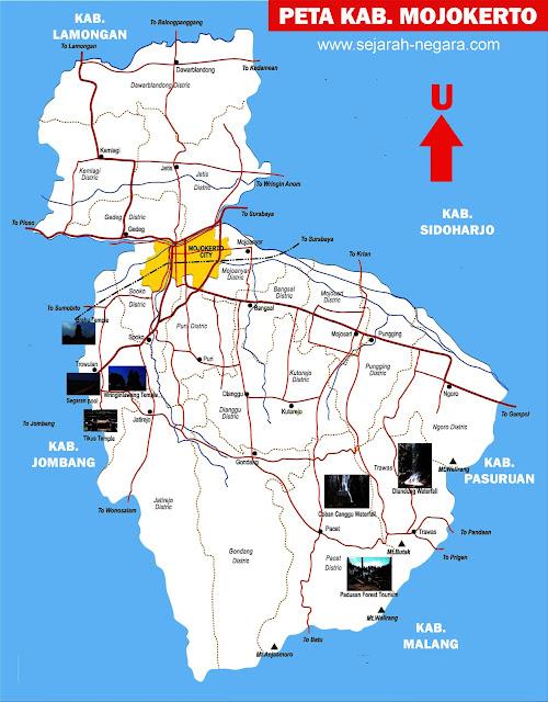 Gambar Peta Mojokerto Lengkap 20 Kecamatan