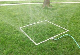 parque de agua DIY para jardin con tubos de PVC y manguera