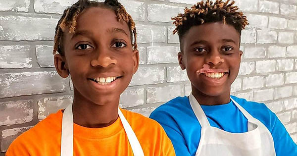 Brothers Shane and Nigel Mushambi, founders of 2 Bros in the Kitchen