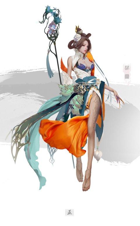 Yakun Wang artstation arte ilustrações orientais fantasia games mulheres