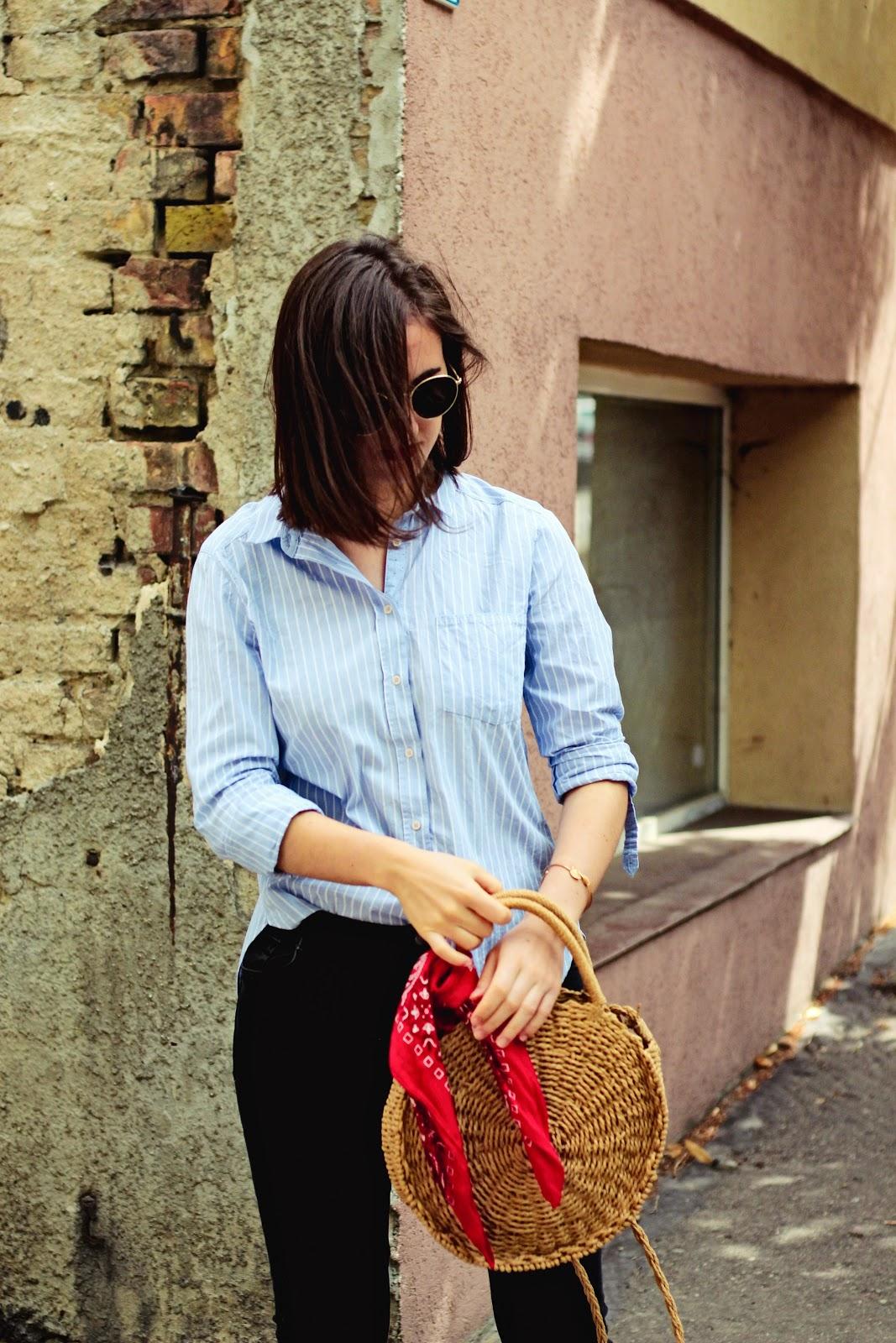 straw bag Rosegal, torebka koszyk na lato