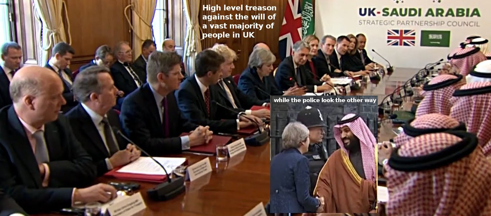 Welcoming UK's main security threat - and committing treason against the will of the people