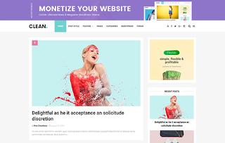 Clean Minimal Blogger Template