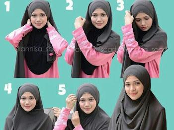 Tutorial Hijab Untuk Wide Shawl