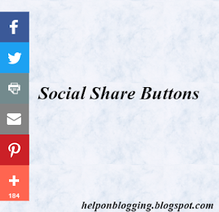 Social Share Buttons widget with counters for blogger